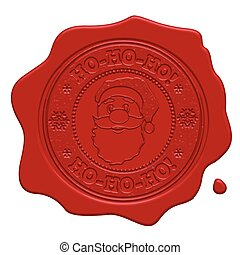 Ho-Ho-Ho! red wax seal