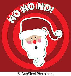 HO HO HO! - Santa Claus - Holiday illustration.