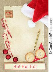 Ho Ho Ho Santas Coming - Christmas eve letter to santa with...