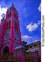 ho, minh, iglesia, bronceado, rosa, chi, dinh