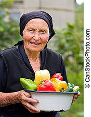 hoar, mulher velha