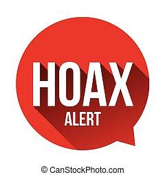 Hoax Alert speech bubble vector