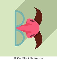 Hoax face mask icon. Flat illustration of hoax face mask vector icon for web design
