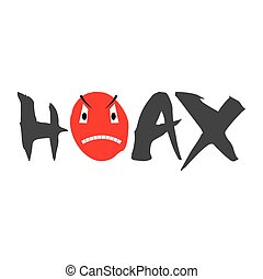 Hoax, Mark for Fake News, isolated on White