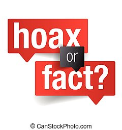 Hoax or Fact Sign label vector