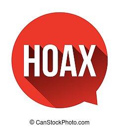 Hoax Warning speech bubble vector