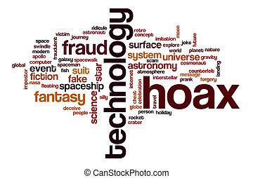 Hoax word cloud concept