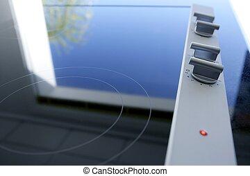 Hob vitroceramic stove kitchen modern detail perspective ...