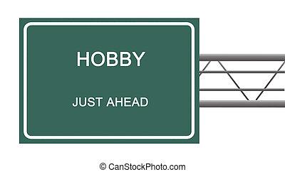 hobbi, út cégtábla