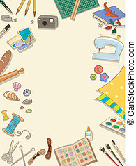 Hobbies and Crafts Frame - Frame Illustration Featuring...