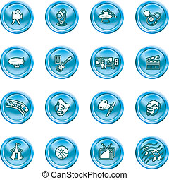 hobbies, iconen, amusement