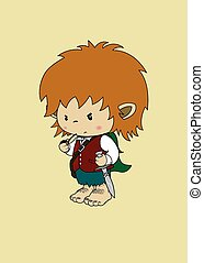 hobbit imaginary character - Angry but cute looking fantasy...