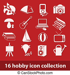 hobby, 16, sammlung, ikone