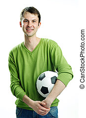 An image of a young man with a ball