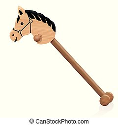 Hobby Horse Wooden Childs Toy - Hobby horse. Childs wooden...