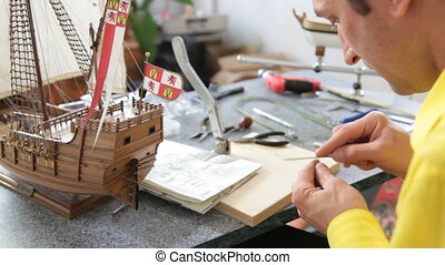 Hobby - model ship assembly kit