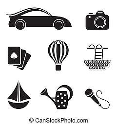 hobby, ozio, icone