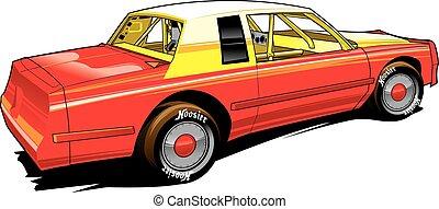 Hobby Racer Stocl Car - vectpr. stock car, racing, dirt...