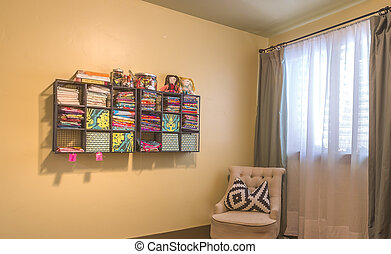 Hobby room for sewing in home