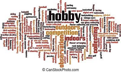 hobby, woord, wolk