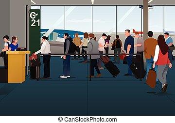 hoblík, cestující, bednění, ta, hoblík, dále, ta, odchod vstup