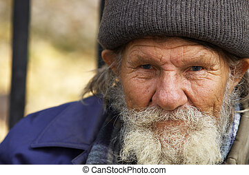 Hobo man - focus point on the eyes(special photo f/x)