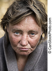 Hobo woman - focus point on the eyes(special photo f/x)