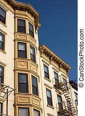 Hoboken downtown - Historical multistory building in...