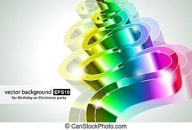 hoch, regenbogen, technologie, geschäftskarte