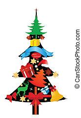 hoch, weihnachten, detail, heiligenbilder