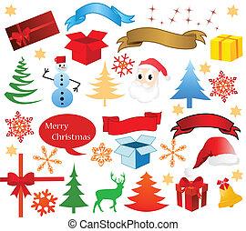 hoch, weihnachten, vektor, detail, heiligenbilder