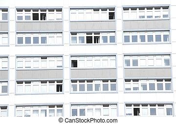 Hochhaus mit Fenstern, Bremen, Deutschland, Europa