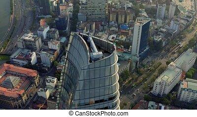 hochiminh, vista, panorama, 2020:, empresa / negocio, aéreo, techo, vietnam, bitexco, centro, abril, -, hochiminh.