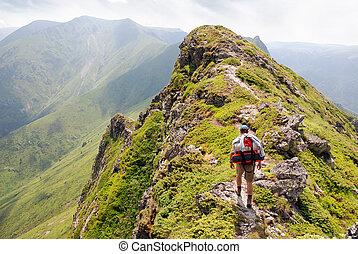 hochklettern, der, berg