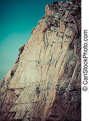 hochklettern, oberseite, mountain.