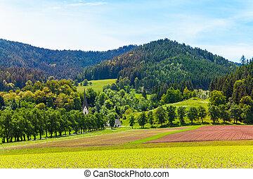 Hochosterwitz castle in Austria surroundings