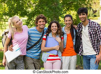 hochschule, fri, glücklich, gruppenbild
