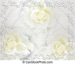 Elegant Wedding Hintergrund Einladung Einfarbig Blumen Wedding