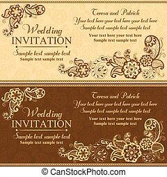Wedding Einladung In Osten Turkisch Stil Orange Vektor Clipart Eps