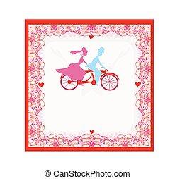 Einladung Tandem Fahrrad Wedding Fahrrad Tandem Stallknecht