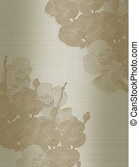 hochzeitskarten, schablone, orchideen