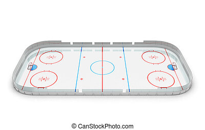 Hockey arena - 3d illustration hockey arena isolated on...