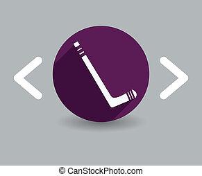 hockey bâton, icône