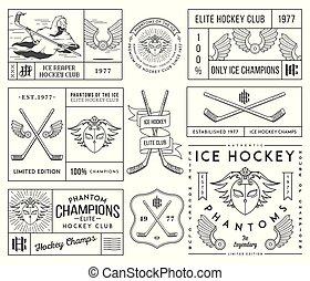 Hockey badges and lables vol. 2 - Vector Ice Hockey badges...