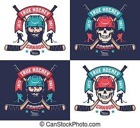 Hockey club emblem in vintage style