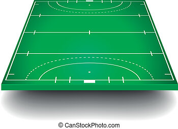 Hockey field with perspective - detailed illustration of a...