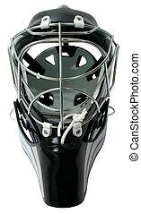 hockey, gardien de but, casque