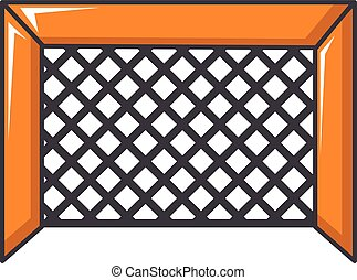 Hockey gate icon, cartoon style