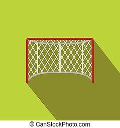 Hockey gates flat icon