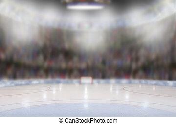hockey glace, arène
